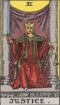 La Justicia, arcano de la aceptación