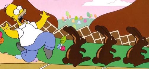 Homer Simpson en el país del chocolate