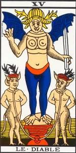 Diablo en el Tarot de Marsella