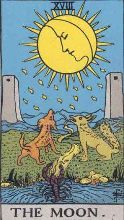 La Luna en el Tarot, el engaño oculto