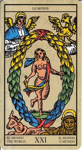 Símbolos Paganos en el arte religioso católico El-mundo-tarot-marsella