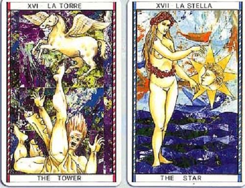 La estrella y la Torre en el Tarot