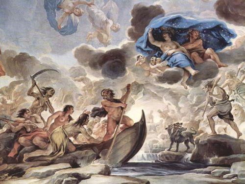 Caronte por Luca Giordano