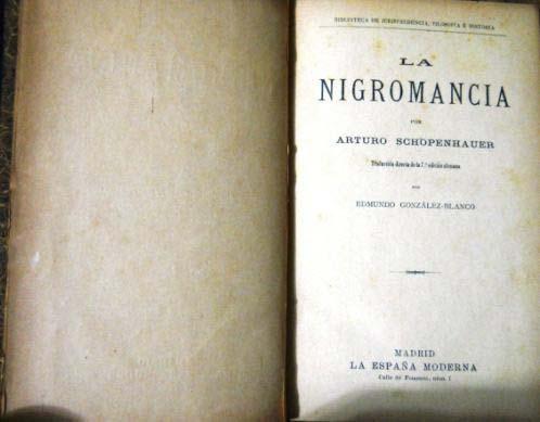 La nigromancia por Schopenauer